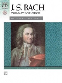 Bach 15 Two-part Inventions by Bach for Piano Book & CD published by Alfred
