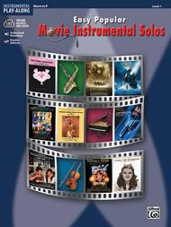 Easy Popular Movie Instrumental Solos Book & CD for Horn in F published by Alfred