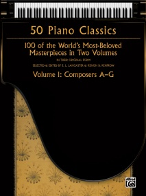 50 Piano Classics Volume 1: Composers A-G published by Alfred
