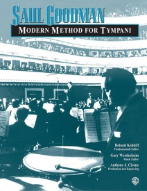 Goodman: Modern Method for Timpani published by Alfred