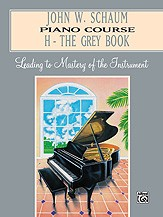Schaum Piano Course Book H (Grey) published by Alfred