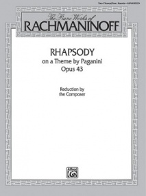 Rachmaninov: Rhapsody on a Theme by Paganini Opus 43 for Two Pianos published by Warner