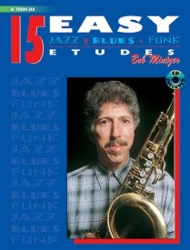 15 Easy Jazz Blues & Funk Etudes Book &  CD for Tenor Sax published by Warner