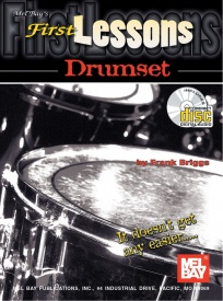 First Lessons Drumset Book & CD published by Mel Bay