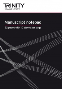 Trinity Manuscript Notebook 10 Stave (32 pages)