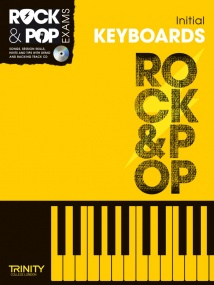 Trinity College Rock & Pop Keyboard Initial Grade Book & CD 2012-2017