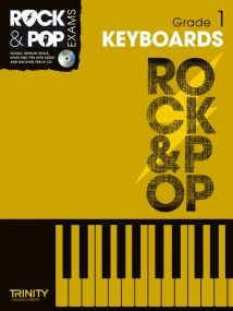 Trinity College Rock & Pop  Keyboards Grade 1 Book & CD 2012-2017