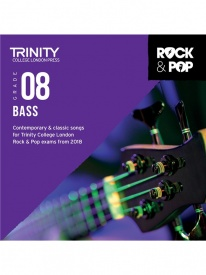 Trinity Rock & Pop Bass Guitar Grade 8 From 2018 (CD ONLY)