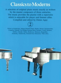 Classics To Moderns 2 for Piano published by York