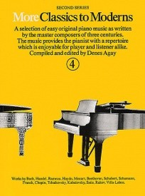 More Classics To Moderns 4 for Piano published by York