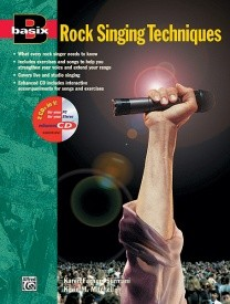 Basix Rock Singing Techniques Book & CD published by Alfred