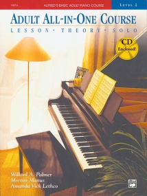 Alfred's Basic Adult All-in-One Course Level 2 Book & CD