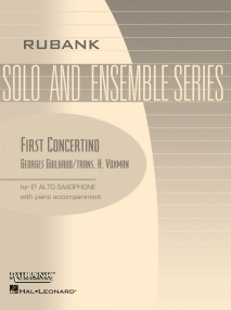 Guilhaud: First Concertino for Alto Saxophone published by Rubank