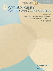 Art Songs By American Composers for High Voice Book & CD published by Boosey and Hawkes