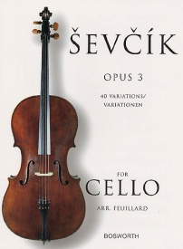 40 Variations Opus 3 by Sevcik for Cello published by Bosworth