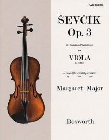 Studies Opus 3 (40 Variations) by Sevcik for Viola published by Bosworth