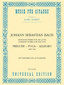 Bach: Prelude, Fugue & Allegro BWV998 for Guitar published by Universal