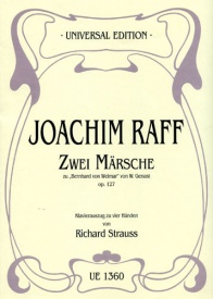 Two Marches on Bernhard von Weimar for Piano Duet by Raff published by Universal