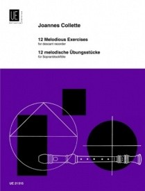 Collette: 12 Melodic Studies for Descant Recorder published by Universal