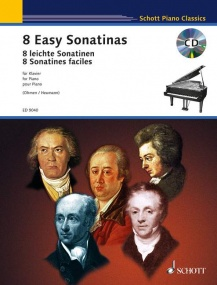 8 Easy Sonatinas for Piano Book & CD published by Schott