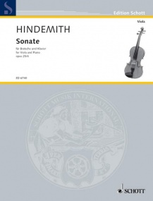 Hindemith: Sonata Opus 25/4 for Viola published by Schott