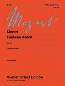 Mozart: Fantasia in D Minor K397 for Piano published by Wiener Urtext