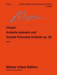 Chopin: Andante spianato and Grande Polonaise brillante Opus 22 for Piano by Chopin published by Wiener Urtext