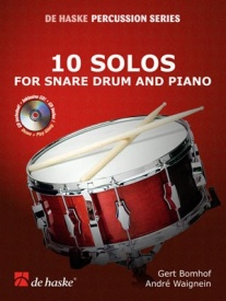 10 Solos for Snare Drum and Piano by Bomhof published by De Haske