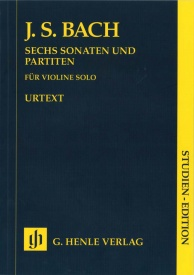 Bach: 6 Sonatas & Partitas BWV1001-1006 (Study Score) published by Henle