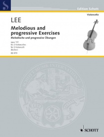 Lee: Melodious and progressive Exercises Opus 131 for 2 Cellos published by Schott