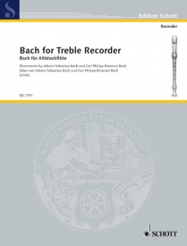 Bach for Treble Recorder published by Schott