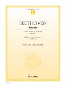 Beethoven: Sonata in D Opus 12/1 for Violin published by Schott