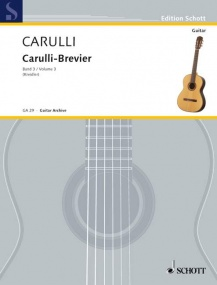 Carulli: Carulli-Brevier Volume 3 for Guitar published by Schott