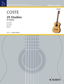 Coste: 25 Studies Opus 38 for Guitar published by Schott