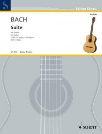 Bach: Suite in E major BWV 1006a for Guitar published by Schott