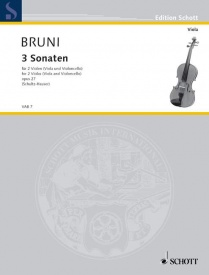 3 Sonatas Opus 27 for 2 Violas by Bruni published by Schott