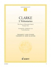 2 Voluntaries for Trumpet by Clarke published by Schott