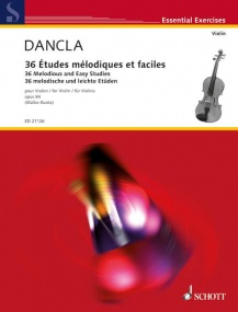 Dancla: 36 Melodious and Easy Studies Opus 84 for Violin published by Schott