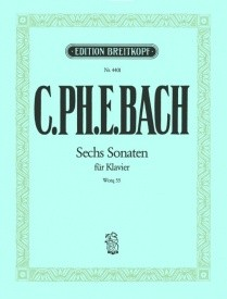 6 Piano Sonatas Wq 55 by CPE Bach published by Breitkopf