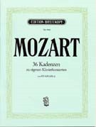 36 Original-Kadenzen K624(626a) for Piano by Mozart published by Breitkopf