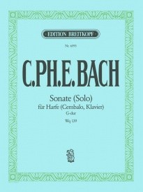 C P E Bach: Sonate (Solo) in G Wq 139 for Harp (Piano/Harpsichord) published by Breitkopf