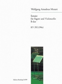 Mozart: Sonata in Bb Major for Bassoon & Cello published by Breitkopf