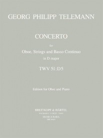 Telemann: Concerto in D TWV51:D5 for Oboe published by Musica Rara
