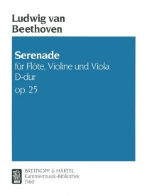Beethoven: Serenade in D Opus 25 published by Breitkopf