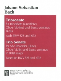 Bach: Trio Sonata in Bb published by Breitkopf
