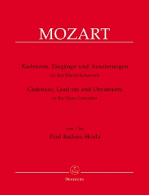 Badura-Skoda: Cadenzas, Entrances & Embellishments for Mozart's Piano Concertos published by Barenreiter
