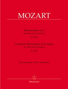 Mozart: Concerto Movement KV494a for Horn published by Barenreiter