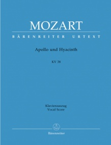 Mozart: Apollo und Hyacinth A Latin intermedium (K38) published by Barenreiter Urtext - Vocal Score