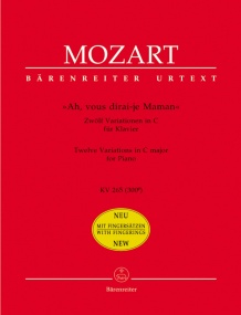 Mozart: ''Ah, vous dirai-je Maman'' for Piano published by Barenreiter