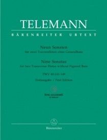 Telemann: 9 Sonatas for two Flutes without Bass (TWV 40: 141-149) published by Barenreiter